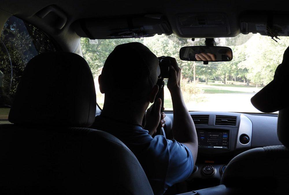 rhino surveillance jon holder investigating as an investigator with video camera